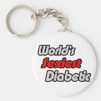 El diabético más atractivo del mundo llavero redondo tipo pin