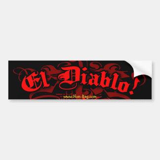 El Diablo Bumper Sticker Car Bumper Sticker