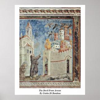 El diablo de Arezzo de Giotto Di Bondone Impresiones