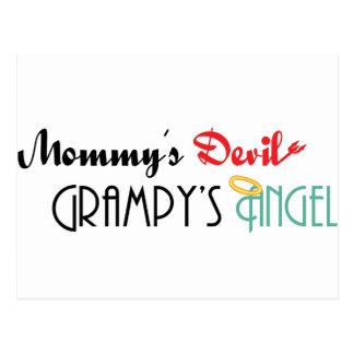 El diablo de la mamá, el ángel de Grampy Postales