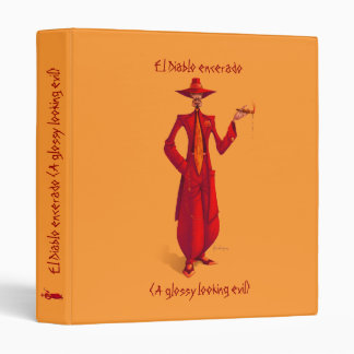El Diablo Encerado -binder- 3 Ring Binder