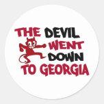 El diablo fue abajo a Georgia Pegatina