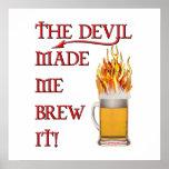 El diablo hizo que lo elabora cerveza - cerveza impresiones
