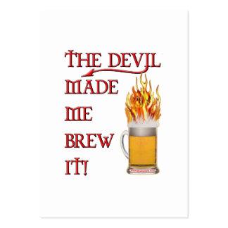 El diablo hizo que lo elabora cerveza - cerveza plantillas de tarjetas personales
