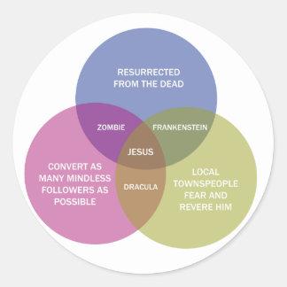 El diagrama inmaculado de Venn Pegatina Redonda