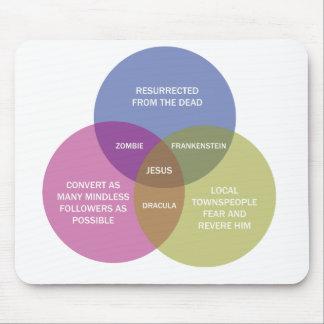 El diagrama inmaculado de Venn Alfombrillas De Ratón