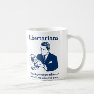 El diagrama libertario tazas de café