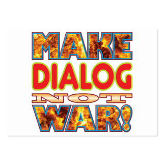El diálogo hace X Tarjetas De Visita Grandes