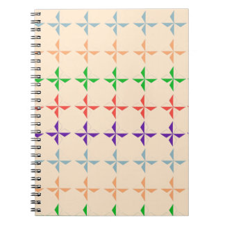 el diamand multicolor del vintage forma el modelo cuadernos