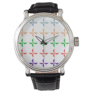 el diamand multicolor feliz forma el modelo reloj