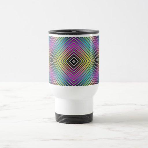 El diamante alinea la taza