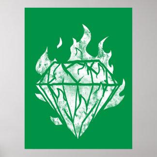 el diamante blanco del fuego es el mío póster