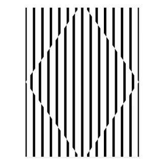 El diamante de la ilusión óptica alinea blanco neg postal