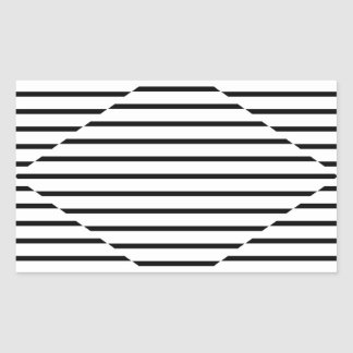 El diamante de la ilusión óptica alinea blanco rectangular altavoz