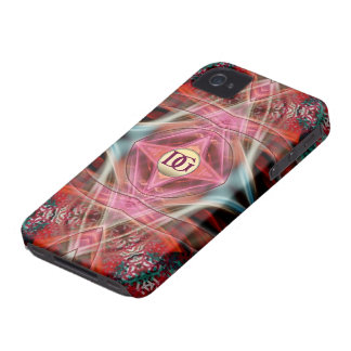 El diamante del fractal del monograma soña el iPhone 4 Case-Mate funda