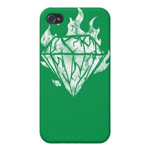 el diamante del whitefire es el mío iPhone 4 carcasa