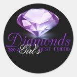 El diamante es el mejor amigo del chica etiqueta redonda