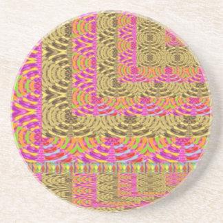 El diamante espiral ELEGANTE agita en capas Posavasos Diseño
