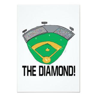 """El diamante invitación 5"""" x 7"""""""