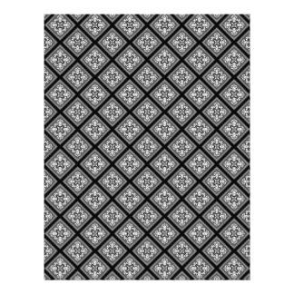 El diamante negro y blanco agrupa el papel del plantillas de membrete