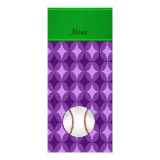 El diamante púrpura conocido personalizado diseño de tarjeta publicitaria