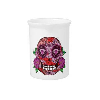 El diamante rosado del cráneo del azúcar del jarras