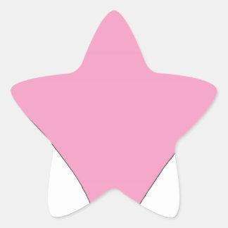 el diamante rosado pegatina en forma de estrella