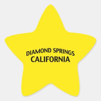 El diamante salta California Colcomanias Forma De Estrella Personalizadas