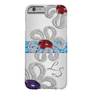 El diamante y la gema encrustados florece (con funda de iPhone 6 barely there