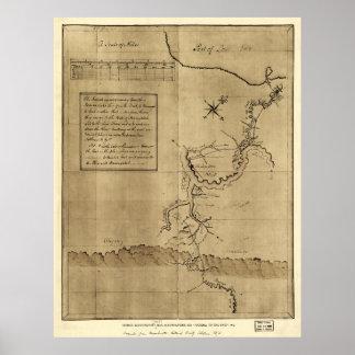 El diario de George Washington al Ohio 1754 Póster