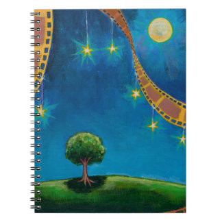 El diario del arte para la película pulimenta la f cuaderno