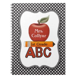 El diario del profesor rojo personalizado de Apple Libros De Apuntes