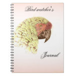 El diario del vigilante de pájaro libros de apuntes con espiral