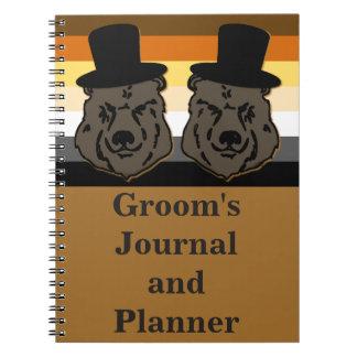 El diario y el planificador del novio del oso para cuadernos