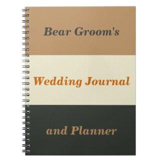 El diario y el planificador del orgullo del novio libreta espiral