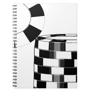 El diarios de operación del póker, mantiene el sta libro de apuntes con espiral