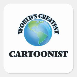 El dibujante más grande del mundo pegatina cuadrada