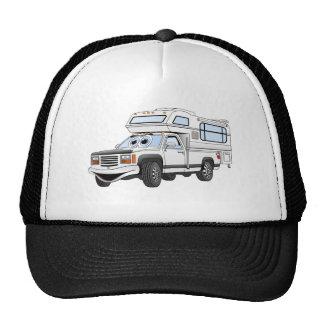 El dibujo animado blanco coge el campista gorras de camionero