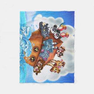 El dibujo animado de la arca de Noah embroma el Manta De Forro Polar