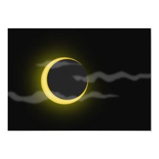 el dibujo animado de la luna de la nube invitacion personalizada