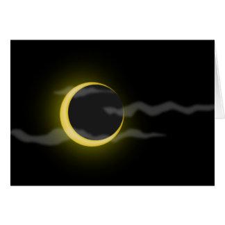 el dibujo animado de la luna de la nube tarjeton