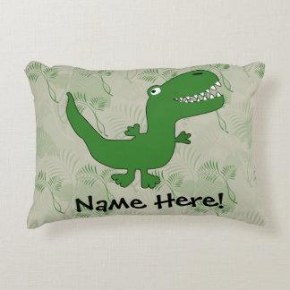 El dibujo animado del dinosaurio de Rex del Cojín Decorativo