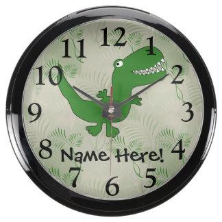 El dibujo animado del dinosaurio de Rex del Reloj Aqua Clock