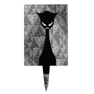 El dibujo animado del gato de la posición de Lotus Figura De Tarta