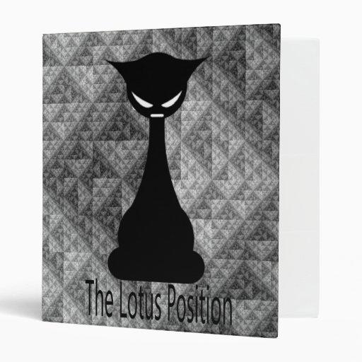 """El dibujo animado del gato de la posición de Lotus Carpeta 1"""""""