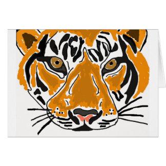 El dibujo animado del tigre del BB le agradece car Tarjeta De Felicitación