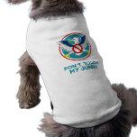 El dibujo animado Eagle no toca mi logotipo divert Camiseta De Mascota
