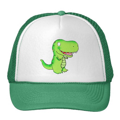 el dibujo animado embroma el dinosaurio T-rex Gorro