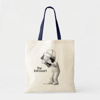 El dibujo animado introvertido bolsa lienzo