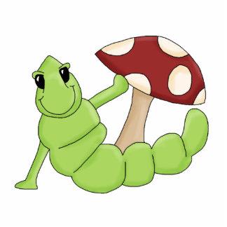 El dibujo animado lindo Caterpillar Worm diseño de Esculturas Fotograficas